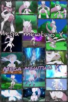 Mega Mewtwo X and Y by PrincessEmerald7