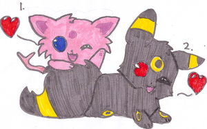 Umbreon and Espeon Adoptables CLOSED by DragoniteMessenger