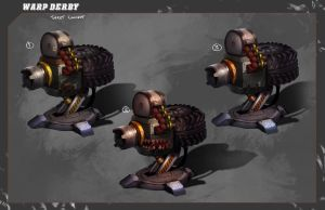Warp Derby | Turret Concept by RyomaNinja