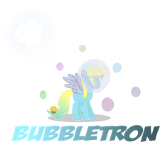 Derpy as 'The Bubbletron' - Power Pony Contest! by MyPaintedMelody