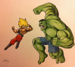 HULK VS GOKU by grizlyjerr