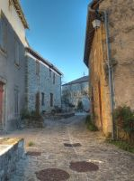 Medieval street - Peyrusse-le-Roc 18 by HermitCrabStock