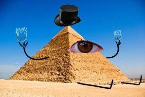 The Great Pyramid of Cipher by etremelyinnpropiart