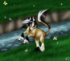 On the Riverbank by harlequin-wondercat