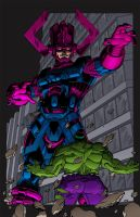 Galactus vs. Hulk by sirandal