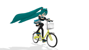 MMD - Miku's Bicycle Race by emmystar