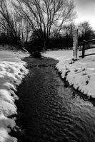 The Stream in the Snow I... by TheBaldingOne