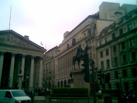 City of London near the Bank of England. by Sidmod