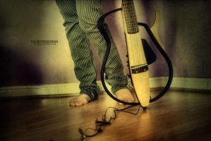 While My Guitar Gently Weeps by nightdimness