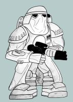 Snow trooper: Re coloured by wookieebasher