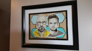 12 x 16 Breaking Bad Illustration/Mixed Media Pa by craftgeekgirl