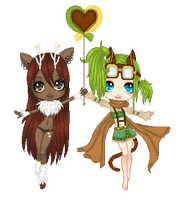 Second Place - Maia and Clover by LittleAlyce