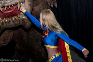 Supergirl VS Rancor 2 by Insane-Pencil