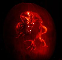 Werewolf Pumpkin Carving by Revelation-Six