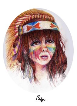 red indian girl by fracisba4