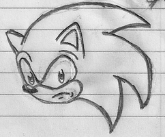 Sonic Head Sketch by Spat856