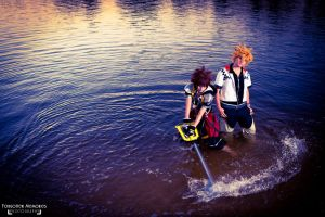 Sora and Roxas: Kingdom Hearts II by CiCi-Chan01