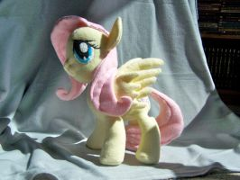 Fluttershy Plush by WhiteAntCrawls
