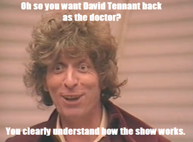 Condescending 4th Doctor by HamillJoker