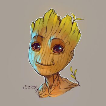 Baby Groot by simoneferriero