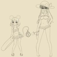 Nazrin and Marisa are ready for the beach by AnArtistApprentice