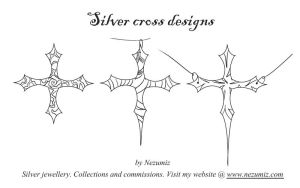 Silver cross designs by Tchiii-chan
