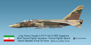 Vought V-507 F-14A Vagabond - Iran-Iraq War by comradeloganov