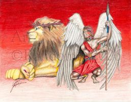 The Angel and The Lion by christians