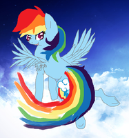 Mlp Fim: Dashing in the sky by cottoncloudyfilly