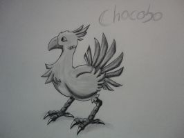 Chocobo (Easy drawing) by SpYrO100