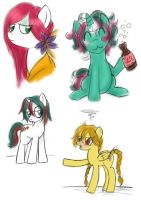 G1 Pony Sketches by fly-buggy