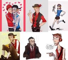TF2 OCs and other hullabaloo sketchdump by monkette