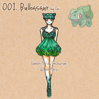 Pokemon Fashion 001: Bulbasaur by thelettergii