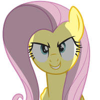 Fluttershy Evil Grin by juniberries