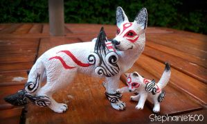 SOLD Amaterasu and Chibiterasu (sold as pair) by stephanie1600