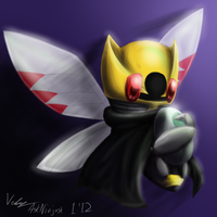 Ninjask and her egg by Kaitall