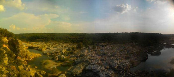 Pedernales Falls Park over cliff view by cm911