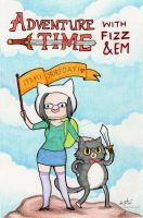 Adventure Time with Fizz and Em by amy-liu