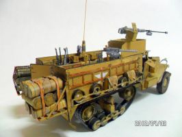 M3A2 US Army WWII Half Truck Papercraft by EdonTuazon