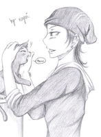 With the cat by Nayui
