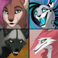4 commission icons by NatalieDeCorsair