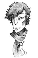 BBC Sherlock : line drawing by fruits-basket-head