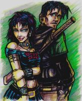 connor and sherry - markers by DrabRats