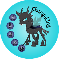 Button Ponies Changeling Game Button by Loaded--Dice