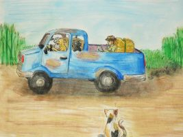 Dog Driving a Truck by unigirl-cloudghost