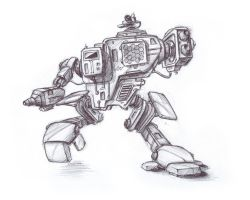 mech frontview by greensandsguy
