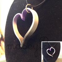 Asexual Gradient Polymer Clay Pendant by maseyb