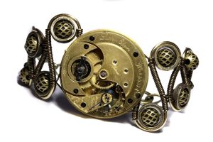 Steampunk Bracelet BRASS LADY by CatherinetteRings
