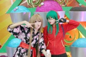 Silly taiga and gumi! by Lawrielle21