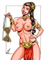 Naughty Slave Leia commission by gb2k